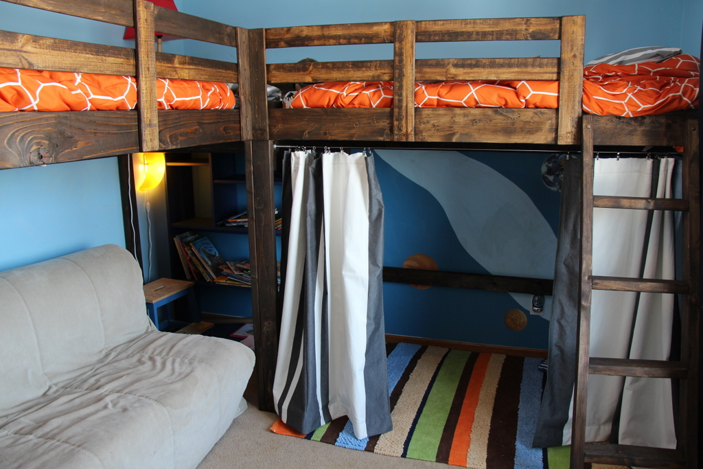 Boys Room Decor And L Shaped Loft Bed Timandmeg Net