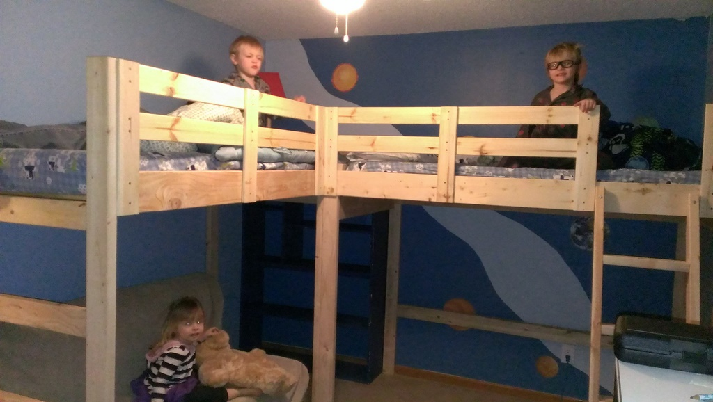 l shaped bunk bed plans
